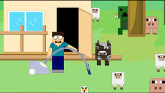 MC搞笑动画:迷之相遇,苦力怕和史蒂夫被吸进吸