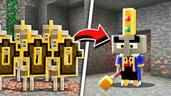 我的世界:新怪物?黄金骷髅军团和刌民国王!