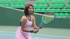韩国网球美女运动员网前精彩截击,, 看了十遍都