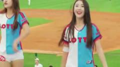 难怪韩国男子都喜欢看棒球比赛,啦啦队美女长