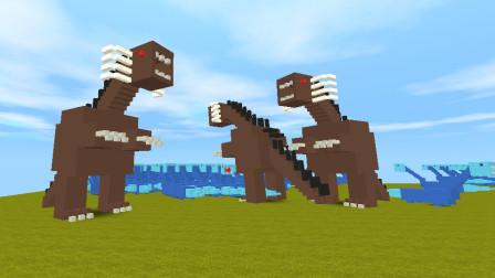 迷你世界:挑战巨型怪兽哥斯拉,防御力比石巨人还高