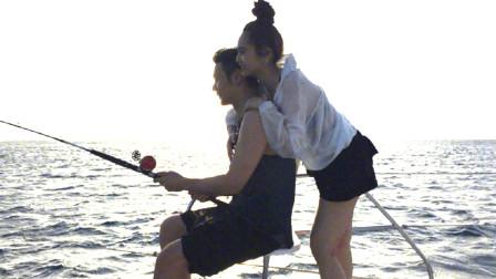 杨丞琳零点为李荣浩庆生,大秀美腿,这个动作