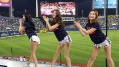 韩职棒啦啦队美女跳欧美热单hand clap!