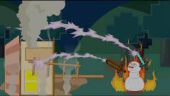 MC搞笑动画:雪人骑士的对决