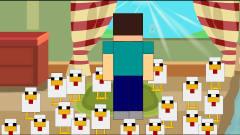 MC搞笑动画:史蒂夫在家看书被僵尸扔飞鸡砸晕