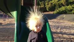 超搞笑的外国宝宝视频集锦,像蒲公英一样的发