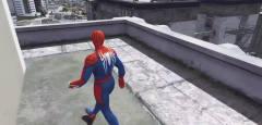 GTA5:蜘蛛侠在街头玩什么游戏呢,这也太搞笑了