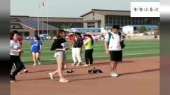 学校举行运动会,女子比赛竞走,听说竞走可以