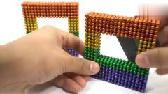 奇闻趣事:老外用巴克球做虹吸效果实验,抛下