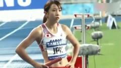 日本田径美女运动员的这个热身动作,你肯定没