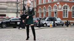 伦敦时装周街拍,模特们都很有范,简直是行走