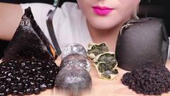吃播:韩国美女吃货试吃木薯珍珠配乌鱼籽,麻
