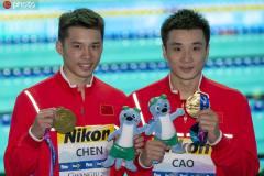 新闻早高峰丨游泳世锦赛中国男双十米台摘金,