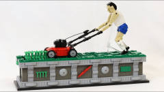 外国牛人用乐高自制割草机器人,效果怎样?网