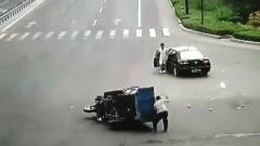 大白天发生如此离奇的车祸在同一个人身上,这