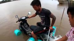 奇闻趣事:为了能在水上骑摩托,印度小伙拆掉