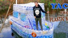 """牛人用1200个塑料瓶制作""""豪华游艇"""",网友:这"""
