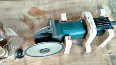 牛人发明:角磨机这样改装一下,变得很实用,