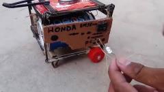 牛人用废旧物品制作直流电机,接通电池才知道