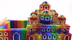 奇闻趣事:巴克球创意玩法!用巴克球DIY彩虹教