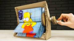 外国牛人用纸板自制动画翻页机,效果怎样?网