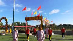 王吴村民俗旅游节前太极队排练5