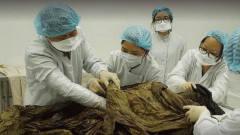 考古专家清理不朽男尸,张开袖子摸到东西,取