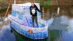 不用的塑料瓶不要扔,国外牛人教你做巨型船只