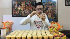 大胃王丁丁挑战10公斤布丁,3秒钟一个布丁,网