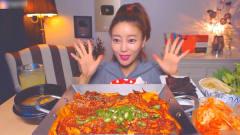 【小姐姐大胃王】 韩国美女小姐姐 夜宵狂吃烤鱿