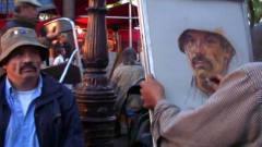 """牛人街头艺术家,""""寥寥几笔""""就把模特,描绘"""
