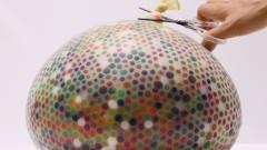 趣味视频:牛人自制气球炸弹,请勿模仿