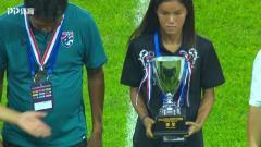 中国之队潍坊国际足球赛颁奖仪式,U16女足全胜