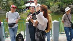 屯门公园三公主妙妙演唱《把酒倒满》,劲歌热