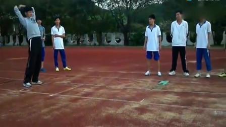 体育生立定三级跳,一跳就到了10米国家田径人才