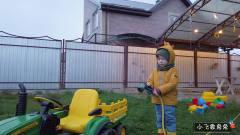小萌宝电动遥控挖掘机拖拉机 萌娃搞笑视频