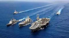 美国海军在海峡离奇失踪,大批军舰迅速进入战
