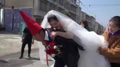湖北高大帅气小伙结婚,传统风俗新娘要男性长