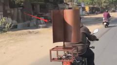 印度牛人200元自制风力发电机,用风力发电机原
