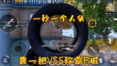 和平精英:靠一把VSS称霸P城,一秒四杀太厉害了