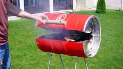 厉害了!牛人制作大型易拉罐烧烤器