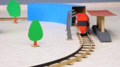 如何用纸板DIY轨道火车玩具?不愧是DIY牛人,网