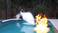 燃烧能力超强的乙醚和液氮,谁的威力大?牛人