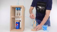 如何制作强大的液压机?国外牛人自制液压机,