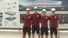 上港党员代表慰问施工人员  走访新主场收获感悟
