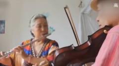 最美的爱情!老夫妻背小提琴环游世界,音乐让