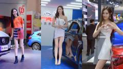 美女车模:爱笑的女孩都很美,会卖萌的车模更