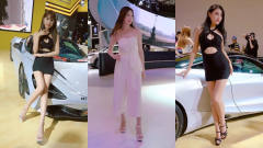 美女车模:国内顶尖车模女神,大长腿吸睛,日