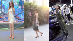 美女街拍:车模身材丰腴饱满,街拍女神森系慢