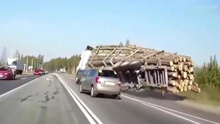 灵异事件:最诡异的车祸,大货车离奇连贯倒地